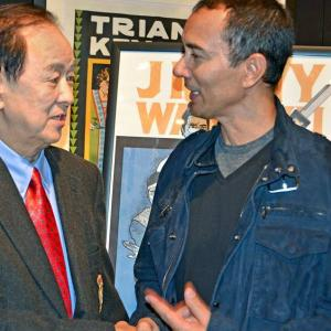 Iconic legend Jimmy Wang Yu here at Walter Reade Theatre -Lincoln Center. I hadn't seen him in 20 years. The first time Jackie Chan introduced me to him at Shaw Brothers Film Co. in Hong Kong
