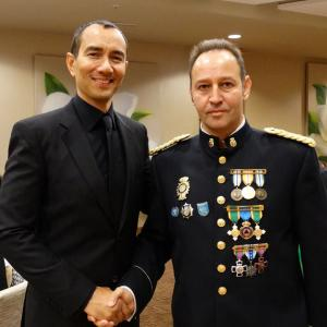 Here with good friend Police Chief Instructor Jose Luis Montes of Valencia, Spain. At the International Martial Arts Hall of Fame & Circle of Knights, 2014