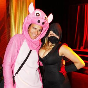 No its not from a movie:-) Here at Webster Hall, NYC for the Halloween Ball Parade Party, 2014