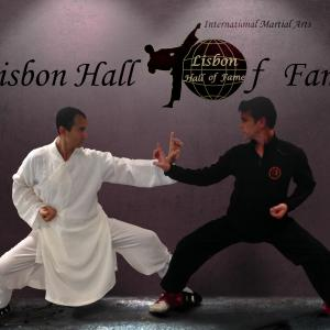 Here as a celebrity guest and inducted into the International Martial Arts Lisbon Hall of Fame. With event organizer and host Vitor Lagarto.