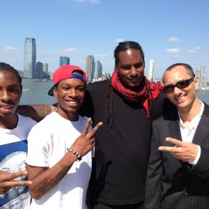 Here in Tribeca NYC on the set of the rap video