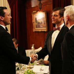 Still of Jon Hamm and William Mapother in MAD MEN Reklamos vilkai 2007