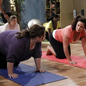 Still of Melissa McCarthy and Katy Mixon in Mike amp Molly 2010