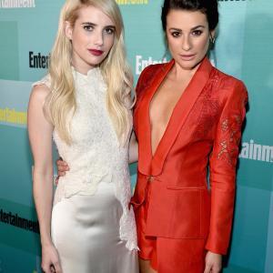 Lea Michele and Emma Roberts
