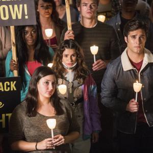Still of Lea Michele, Diego Boneta and Jeanna Han in Scream Queens (2015)
