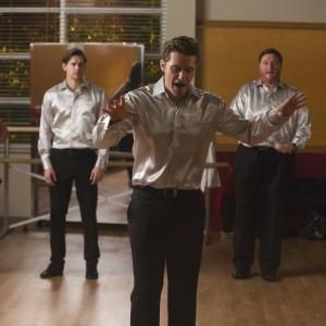 Still of Dot-Marie Jones, Jane Lynch, Lea Michele, Matthew Morrison and Chord Overstreet in Glee (2009)