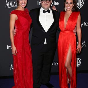 Lea Michele, Jessica Szohr and Josh Gad