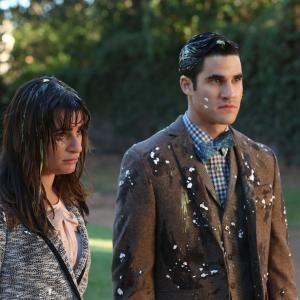 Still of Lea Michele and Darren Criss in Glee (2009)