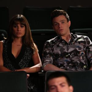 Still of Lea Michele and Chris Colfer in Glee (2009)