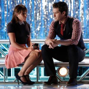 Still of Lea Michele and Matthew Morrison in Glee (2009)