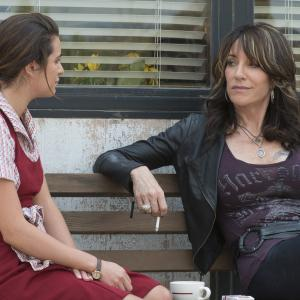 Still of Katey Sagal and Lea Michele in Sons of Anarchy (2008)