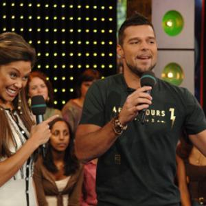 Ricky Martin and Vanessa Lachey at event of Total Request Live 1999