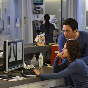 Still of Katherine Moennig and Alex O'Loughlin in Three Rivers (2009)