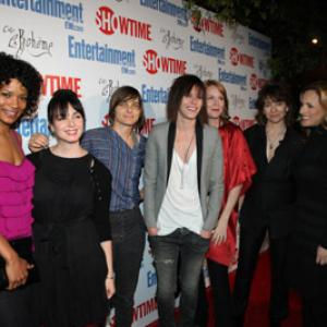 Mia Kirshner, Ilene Chaiken, Laurel Holloman, Marlee Matlin, Katherine Moennig, Rose Rollins and Daniela Sea at event of The L Word (2004)