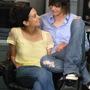 Still of Mia Kirshner and Katherine Moennig in The L Word (2004)