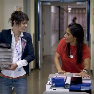 Still of Katherine Moennig and Sarah Shahi in The L Word (2004)