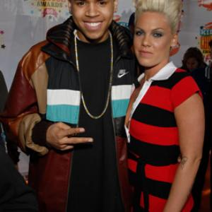 Pink and Chris Brown