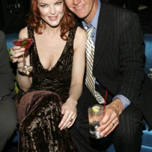 Marcia Cross and Mark Moses