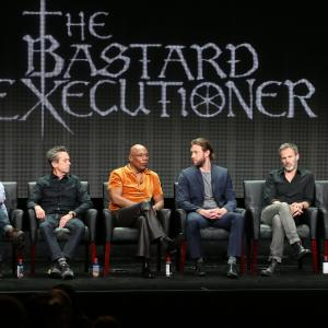 Brian Grazer, Katey Sagal, Paris Barclay, Stephen Moyer, Kurt Sutter and Lee Jones at event of The Bastard Executioner (2015)