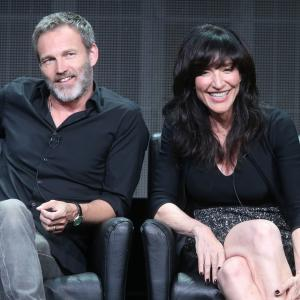 Katey Sagal and Stephen Moyer at event of The Bastard Executioner (2015)