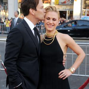 Actors Anna Paquin and Stephen Moyer arrive at HBO's
