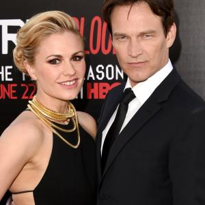 Anna Paquin and Stephen Moyer at event of Tikras kraujas (2008)