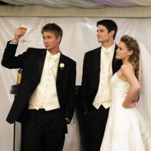 Still of James Lafferty Bethany Joy Lenz and Chad Michael Murray in One Tree Hill 2003