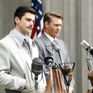 Still of Chad Michael Murray and Dominic Cooper in Agent Carter (2015)