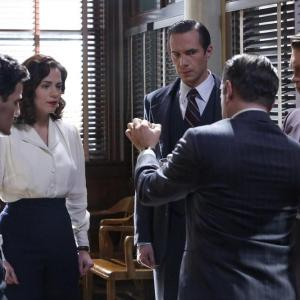 Still of James D'Arcy, Chad Michael Murray, Shea Whigham, Hayley Atwell and Enver Gjokaj in Agent Carter (2015)