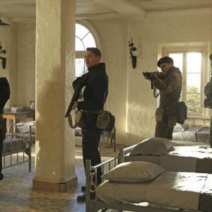 Still of Chad Michael Murray, Leonard Roberts, Greg Serano and Richard Short in Agent Carter (2015)