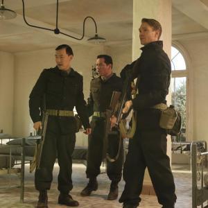 Still of Chad Michael Murray, Greg Serano and Eddie Shin in Agent Carter (2015)