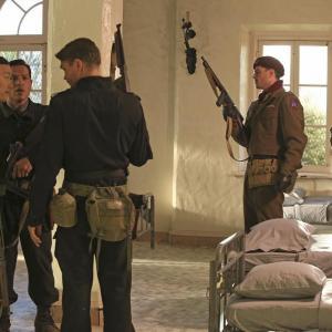 Still of Chad Michael Murray, Leonard Roberts, Greg Serano, Eddie Shin and Richard Short in Agent Carter (2015)