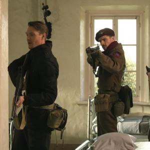 Still of Chad Michael Murray, Leonard Roberts and Richard Short in Agent Carter (2015)