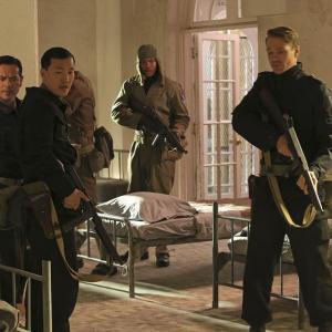 Still of Chad Michael Murray, Leonard Roberts, Greg Serano and Eddie Shin in Agent Carter (2015)