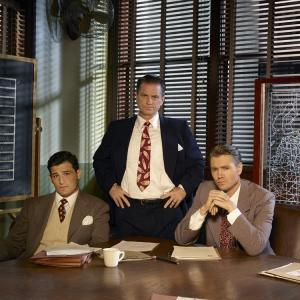Still of Chad Michael Murray, Shea Whigham and Enver Gjokaj in Agent Carter (2015)