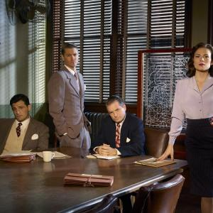 Still of Chad Michael Murray, Shea Whigham, Hayley Atwell and Enver Gjokaj in Agent Carter (2015)