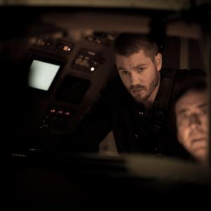 Still of Nicolas Cage and Chad Michael Murray in Left Behind (2014)