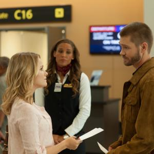 Still of Chad Michael Murray, Cassi Thomson and Lolo Jones in Left Behind (2014)