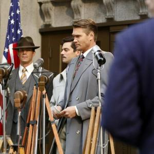 Still of James D'Arcy, Chad Michael Murray and Dominic Cooper in Agent Carter (2015)