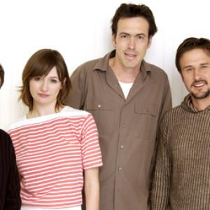 David Arquette Emily Mortimer Tim Blake Nelson and Helmut Schleppi at event of A Foreign Affair 2003