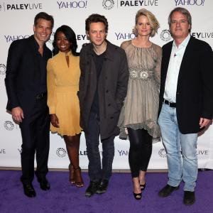 Graham Yost, Joelle Carter, Timothy Olyphant, Jacob Pitts, Erica Tazel
