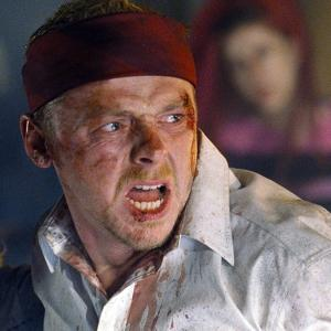 Still of Kate Ashfield and Simon Pegg in Shaun of the Dead 2004