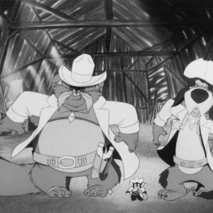 Still of John Cleese Cathy Cavadini Nehemiah Persoff and Erica Yohn in An American Tail Fievel Goes West 1991
