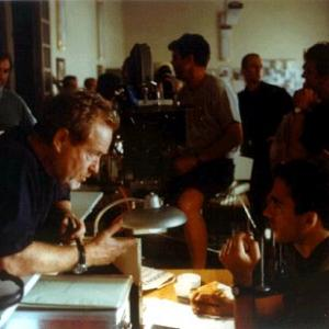 Ridley Scott and Andrea Piedimonte on the set of Hannibal