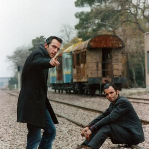 Rafi Pitts and Ali Nicksaulat on the set of Its Winter 2006