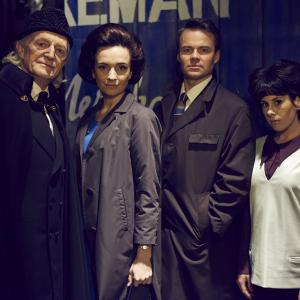 David Bradley Jemma Powell Jamie Glover Claudia Grant in An Adventure in Space and Time
