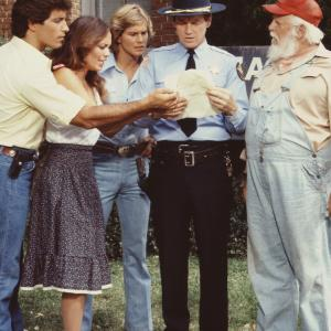 Catherine Bach, Byron Cherry, Christopher Mayer, Denver Pyle, John Schneider, Sonny Shroyer, Tom Wopat