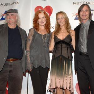 Sheryl Crow, David Crosby, Jackson Browne and Bonnie Raitt