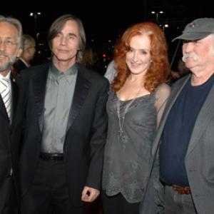 David Crosby, Jackson Browne, Neil Portnow and Bonnie Raitt