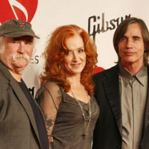 David Crosby, Jackson Browne and Bonnie Raitt